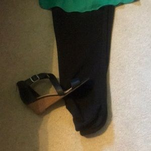 White House Black Market Pants - White House Black Market ankle slit black plants